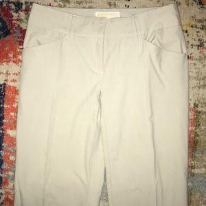 Pleated Michael Kors Beige Wide Leg Trousers